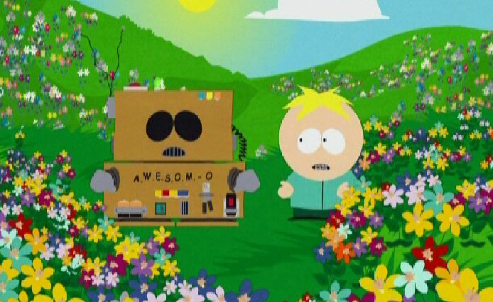Butters makes Cartman believe he is a ghost …to good- best cartoon on TV
